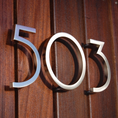 House numbers for every style and home.  Offered in many different shapes, sizes and finishes.  Contact us for specific needs & options.