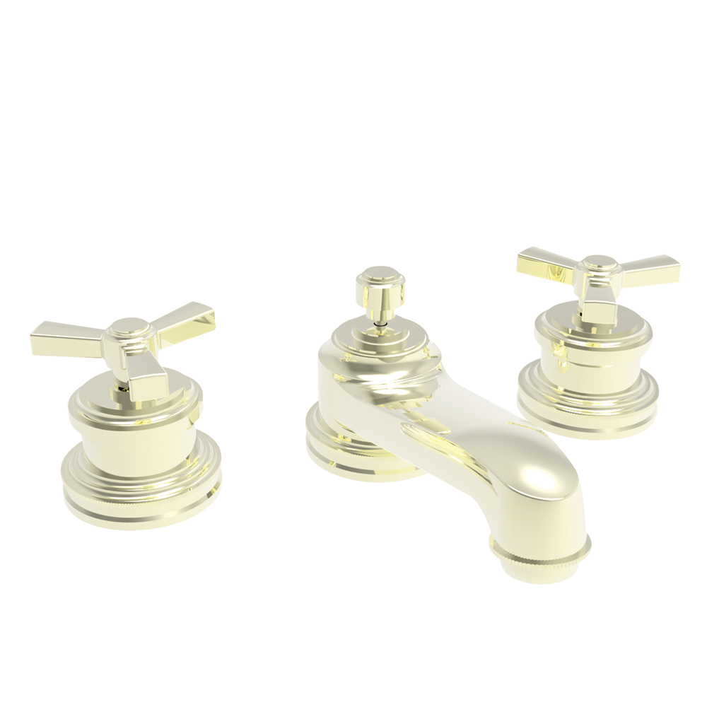 2281600-24A Miro widespread lav faucet shown in French Gold PVD.  Also available withe lever handles.  Offered in 27 finishes.