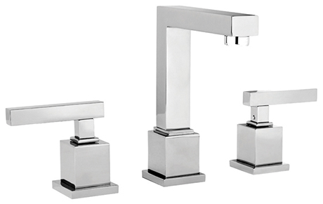 2282030-26 Cube 2 lav faucet shown in polished chrome.  Available in 27 finishes.