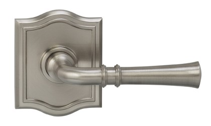 165785AR-15 Traditional lever arched rose, shown in satin nickel.  Available in all functions and six finishes.