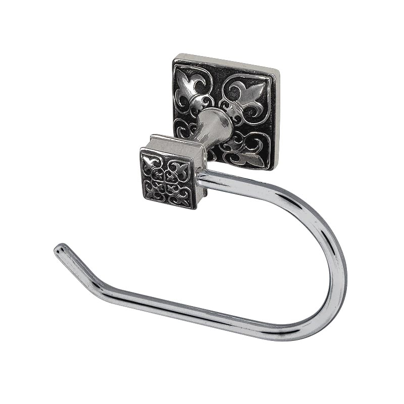188TP9013F-AS Fleur De Lis open tp holder shown in antique silver.  Available in 12 finishes.