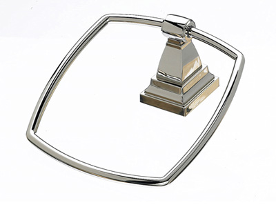 183STK5PN Stratton towel ring polished nickel.  Available in five finishes.