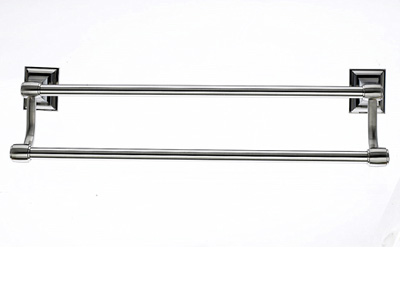 "183STK7BSN Stratton double towel bar 18"" satin nickel.  Available in three sizes and five finishes."