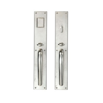 267MDSGG-14-WB Modern rectangle bronze mortise entry shown in white bronze.  Available in four finishes.