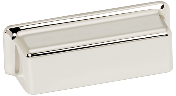 106A951-PN Millennium bin pull 4in ctc shown in polished nickel. Available in two sizes and four finishes.