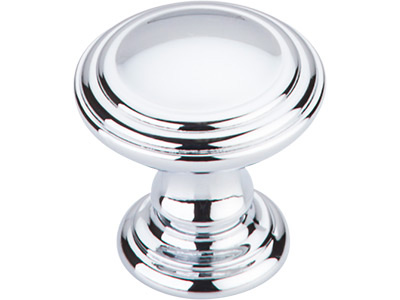 "183TK320PC Reeded knob 1-1/4"" shown in polished chrome. Available in two sizes and four finishes."