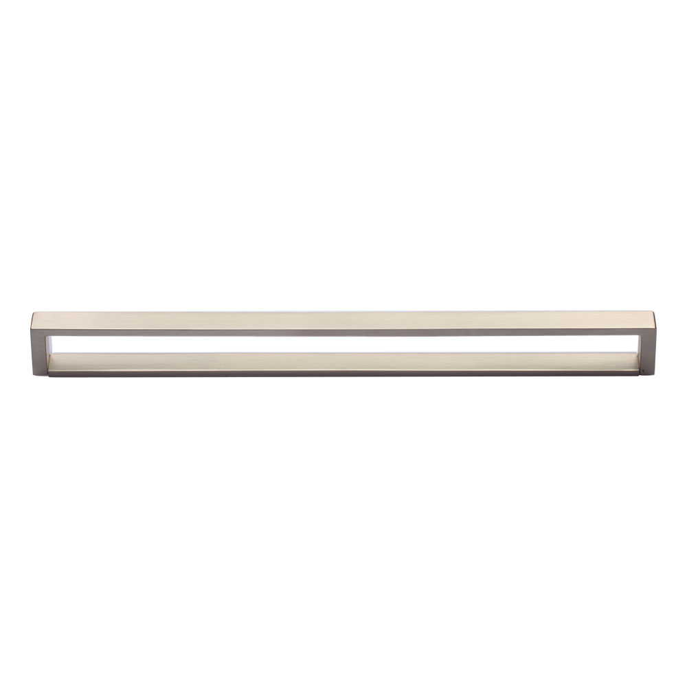267MC2780-320-MSN Urban full flat handle 320mm ctc shown in satin nickel. Other sizes and finishes available.
