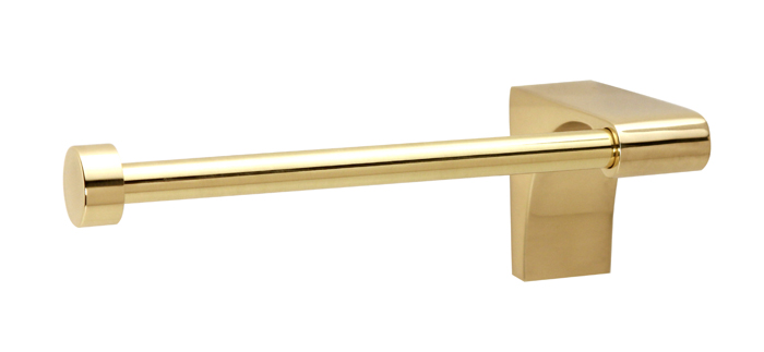 106A6866R-PB Luna right hand tp holder shown in polished brass. Available in five finishes.