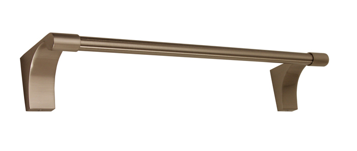 106A6820-18-SN Luna towel bar 18in shown in satin nickel. Available in five finishes.