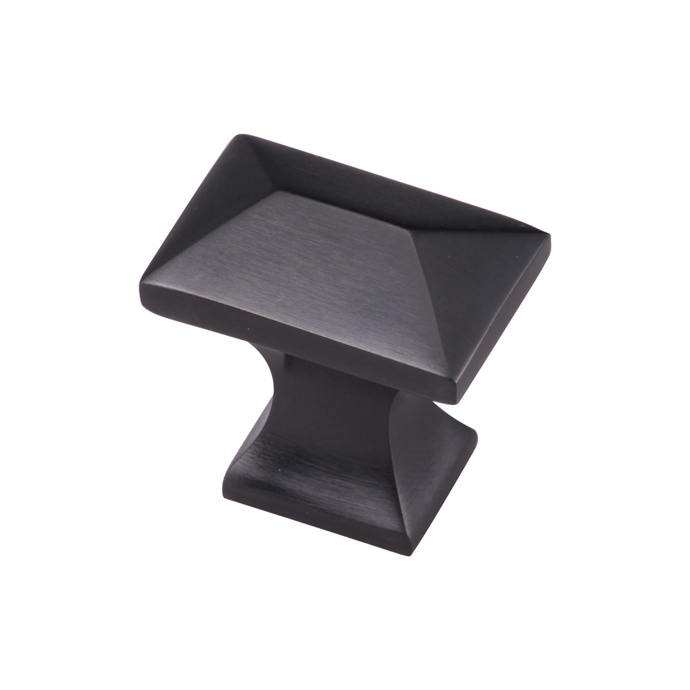 "267MT2232-35-DOR Pyramid knob 1-3/8"" shown in bronze. Available in three other finishes."