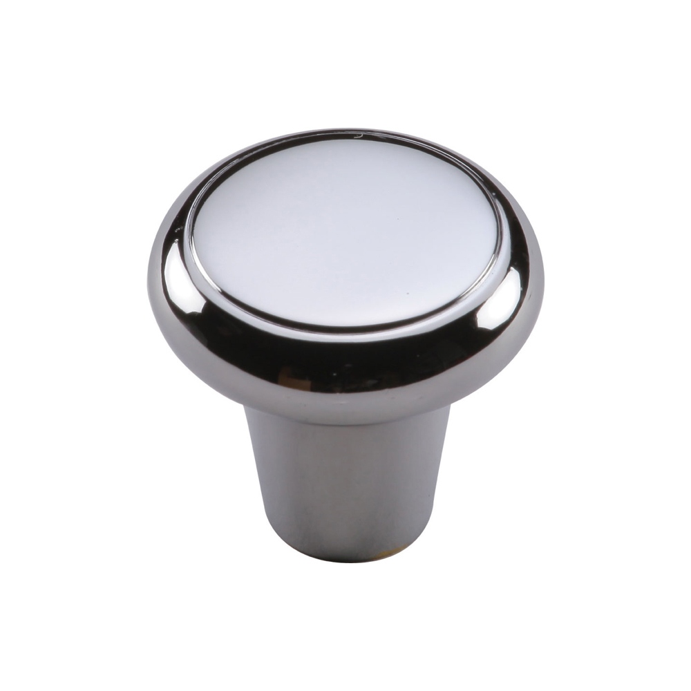 "267MT3990-32-PCH Flat top knob 1-1/4"" shown in polisehd chrome. Available in other sizes and finishes."