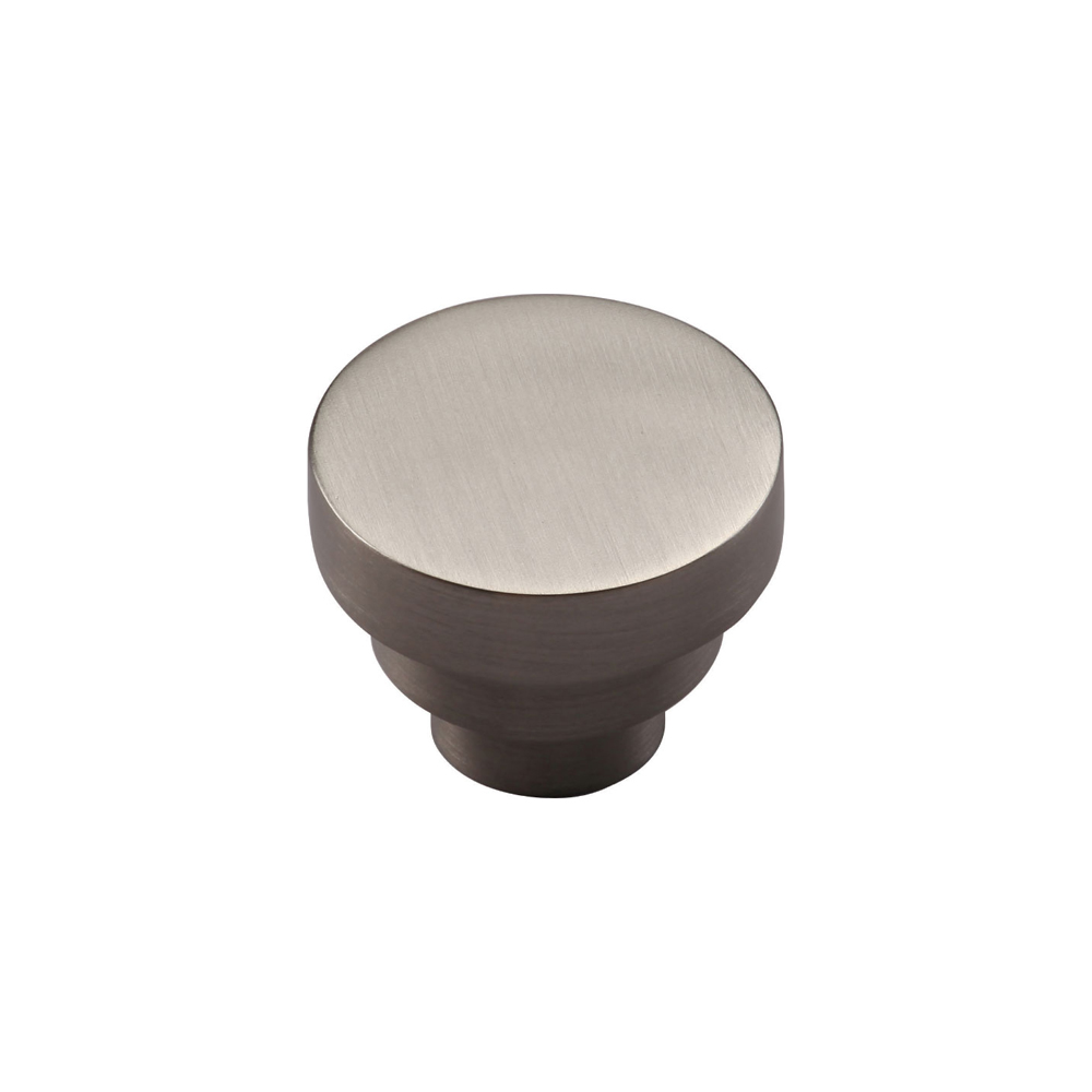 "267MT3624-32-GSN Stacked round knob 1-1/4"" shown in satin nickel. Available in other sizes and finishes."
