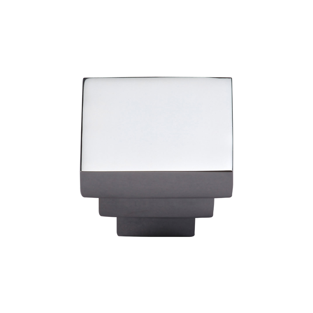 "267MT3672-32-PCH Stacked square knob 1-1/4"" shown in polished chrome. Available in other sizes and finishes."