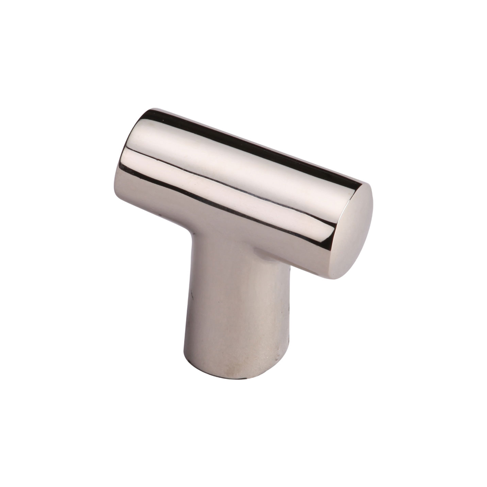 "267MT2234-35-PNI T-shape knob 1-3/8"" shown in polished nickel. Available in other finishes."