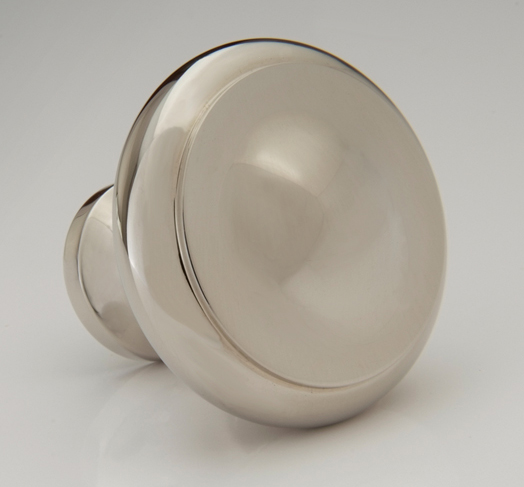 "2598500-PN Jamestown knob 1-1/4"" shown in polished nickel.  Available in multiple sizes and finishes."