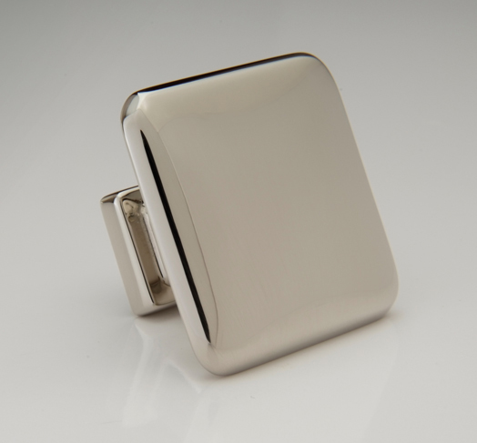"2598449-PN Hudson knob 1-3/8"" shown in polished nickel.  Available in a smaller size and many finishes."