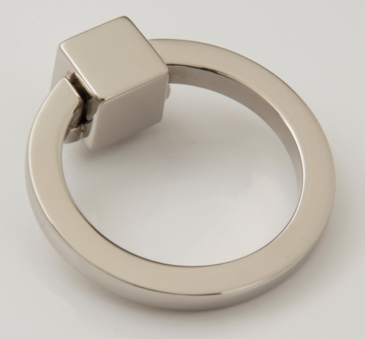 "25915199-PN Hudson ring pull 1-3/4"" shown in polished nickel.  Available in other sizes and many finishes."