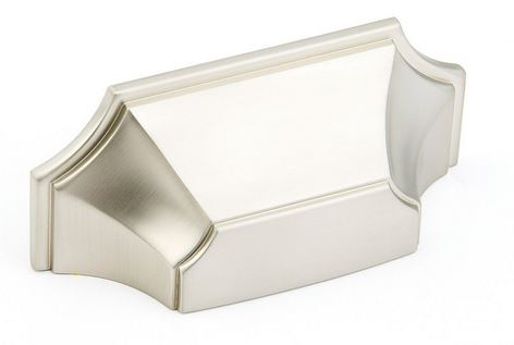 "195878-15 Empire cup pull 3"" ctc shown in satin nickel.  Available in six finishes."