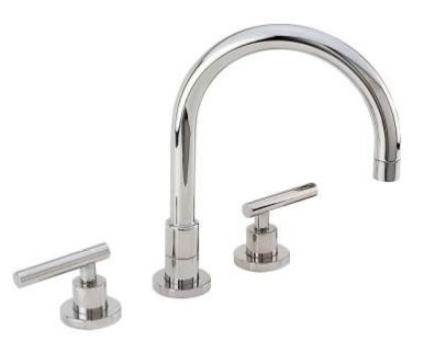 2289901L-26 East Linear kitchen faucet shown in polished chrome.  Available in 27 different finishes.
