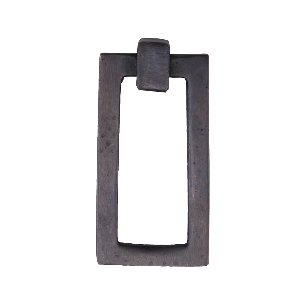 "2676351-BZ Flat rectangle ring pull 2-1/4"" x 1-1/4"" shown in dark bronze. Available in additional finishes."