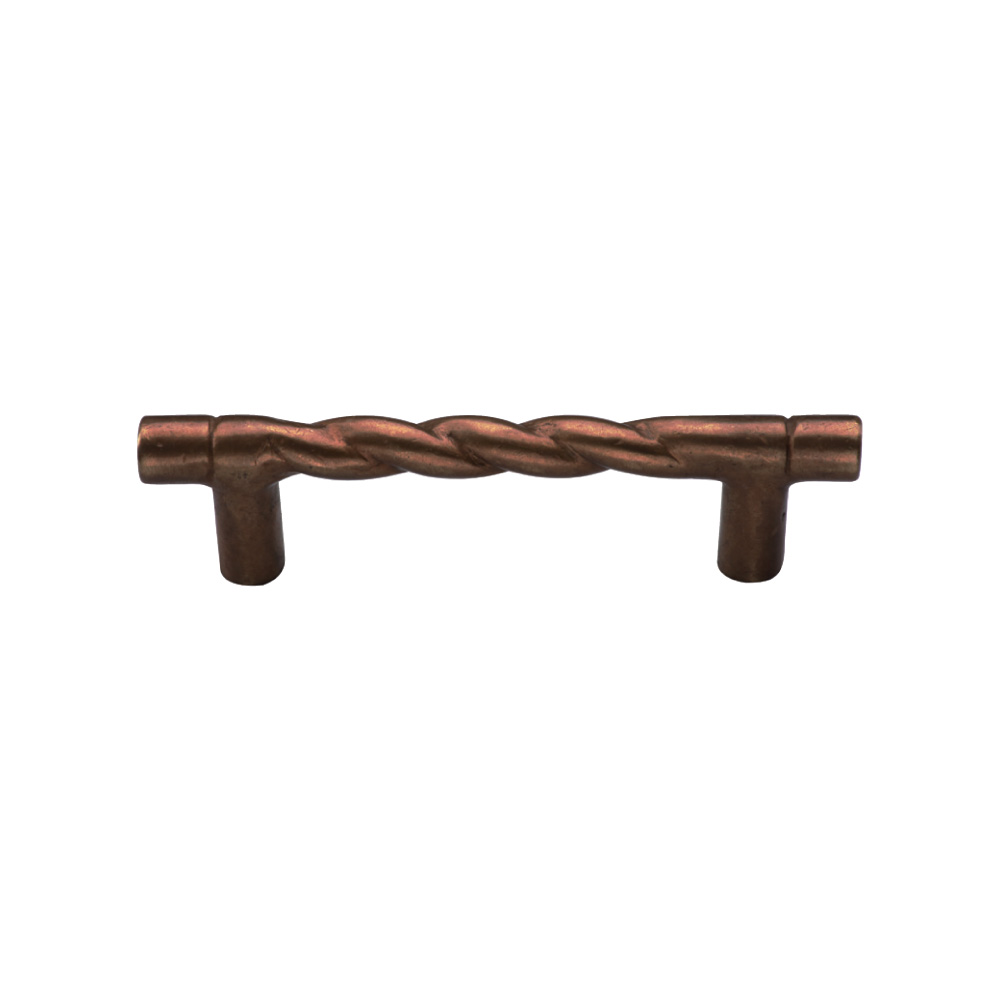 "267301.5-1/4-LT Rope handle 3-3/4"" ctc shown in light bronze. Available in several sizes and finishes."
