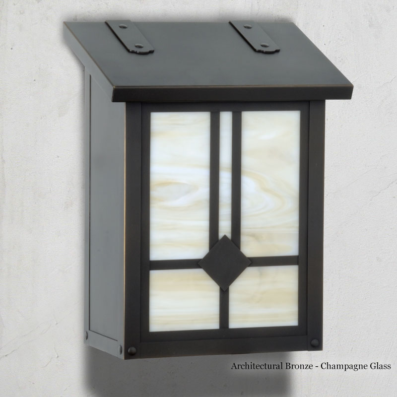 "277AF-31-BZ-CH Raymond vertical mail box.  Size: 12-1/4"" h x 9-3/8"" w x 5-5/8"" d.  Other finishes and glass colors available."