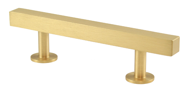 "23531-102 Bar pull handle 5"" overall 3"" ctc Brushed brass.  Other sizes and  finishes  available."
