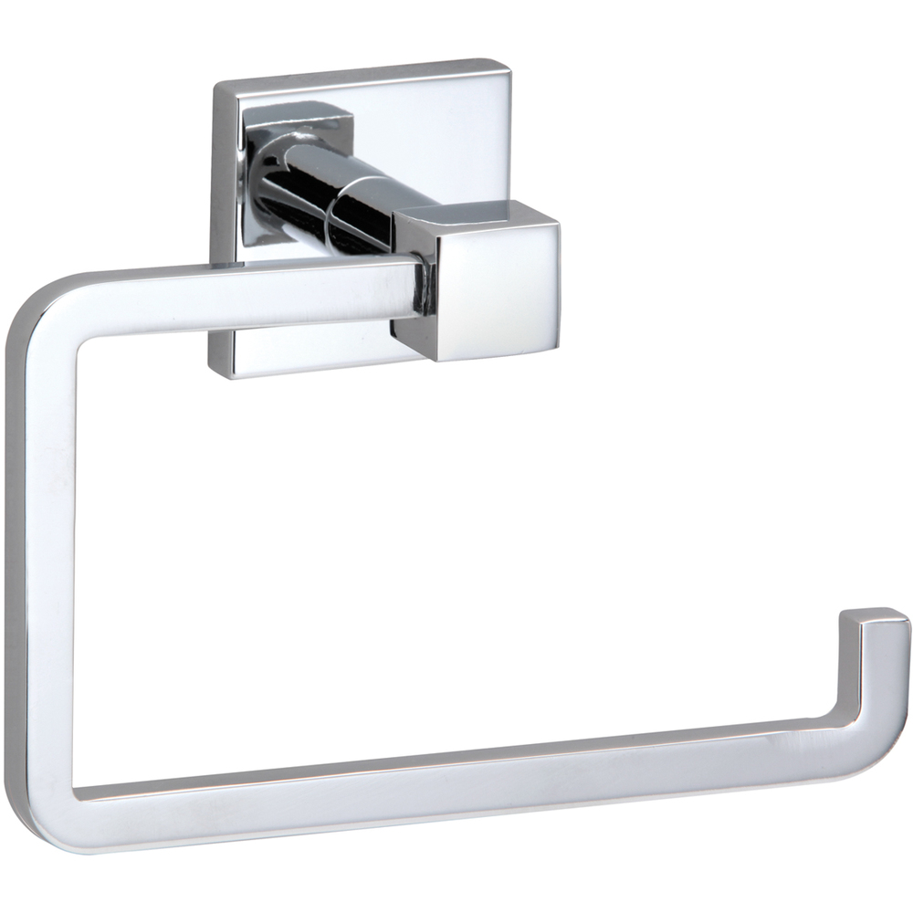 18104-2348 Qube single post toilet paper holder, polished chrome.