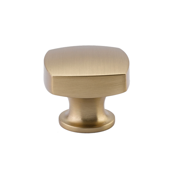 "12986450US4 Freestone knob 1-1/4"" shown in satin brass. Available in an additional size and five finishes."