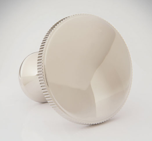 "2598552C-PN Jamestown 1-1/2"" disc knob coined. Offered in other sizes and  finishes ."