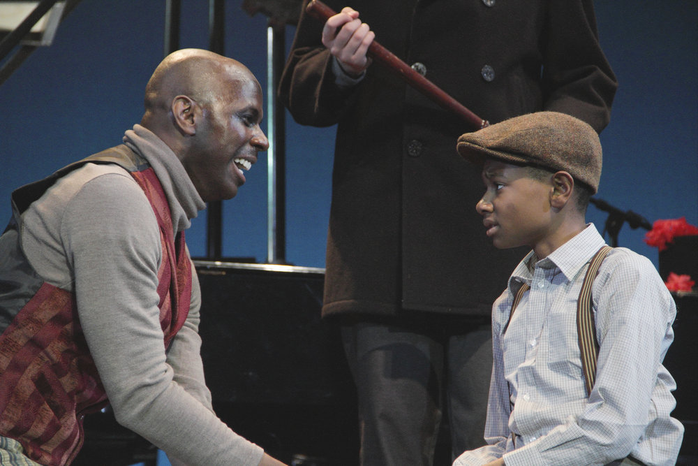 Correy West as Fagin and David Hopkins as Oliver Twist in Virginia Stage Company's Oliver Twist.jpg