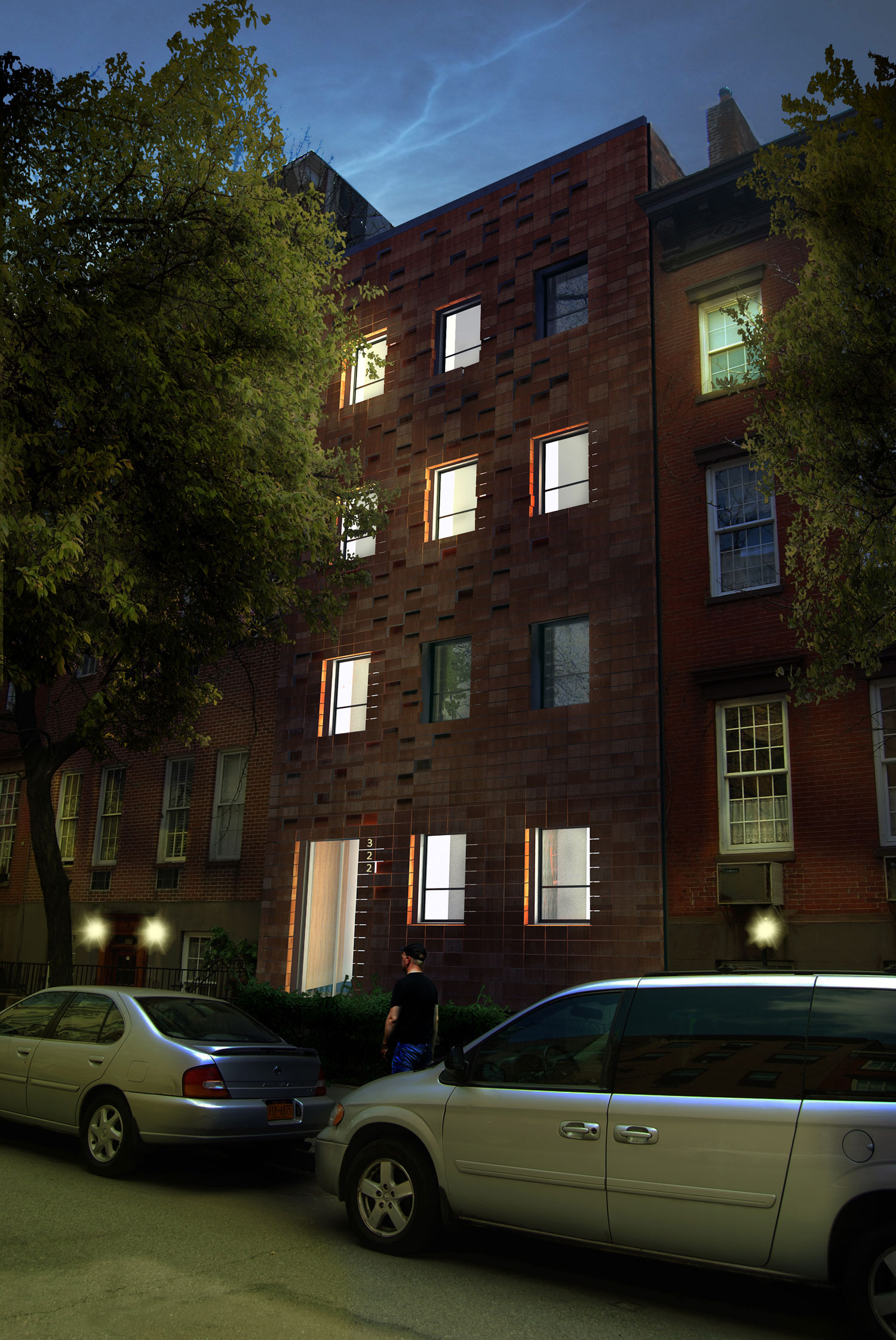 chelsea townhouse façade   status:  design development                        program:  residential square feet: -                                                 location:  new york, ny
