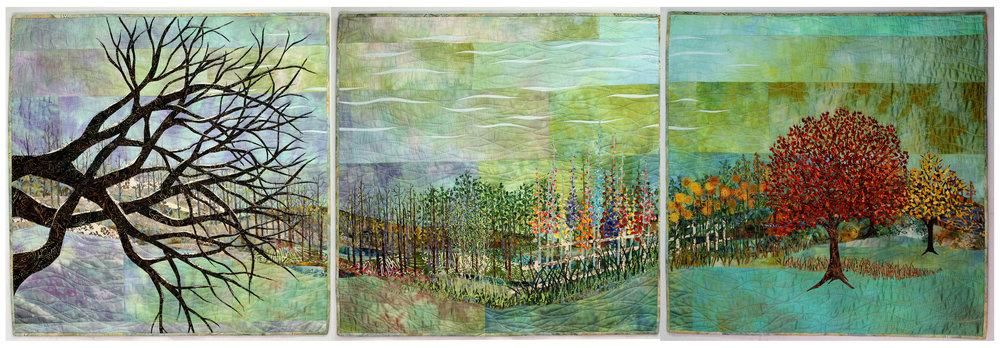 Triptych: Thaw, Emerging Summer, Equinox