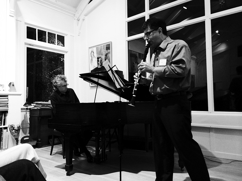 Eric Zivian (piano) and Jerome Simas (clarinet) photographed by Lena Zentall