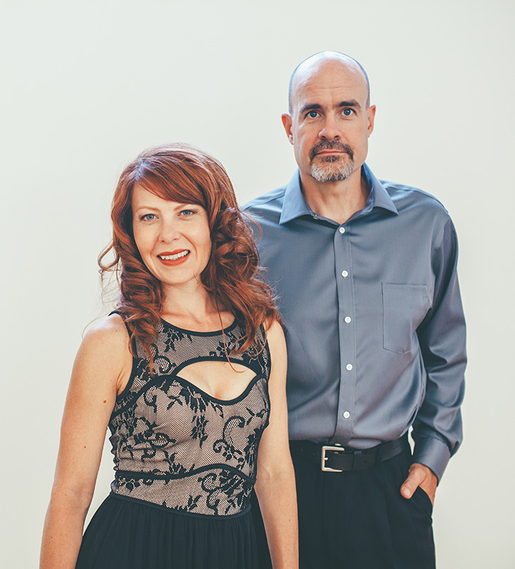 Left Coast's newest members: Nikki Einfeld (soprano) and Loren Mach (percussion)