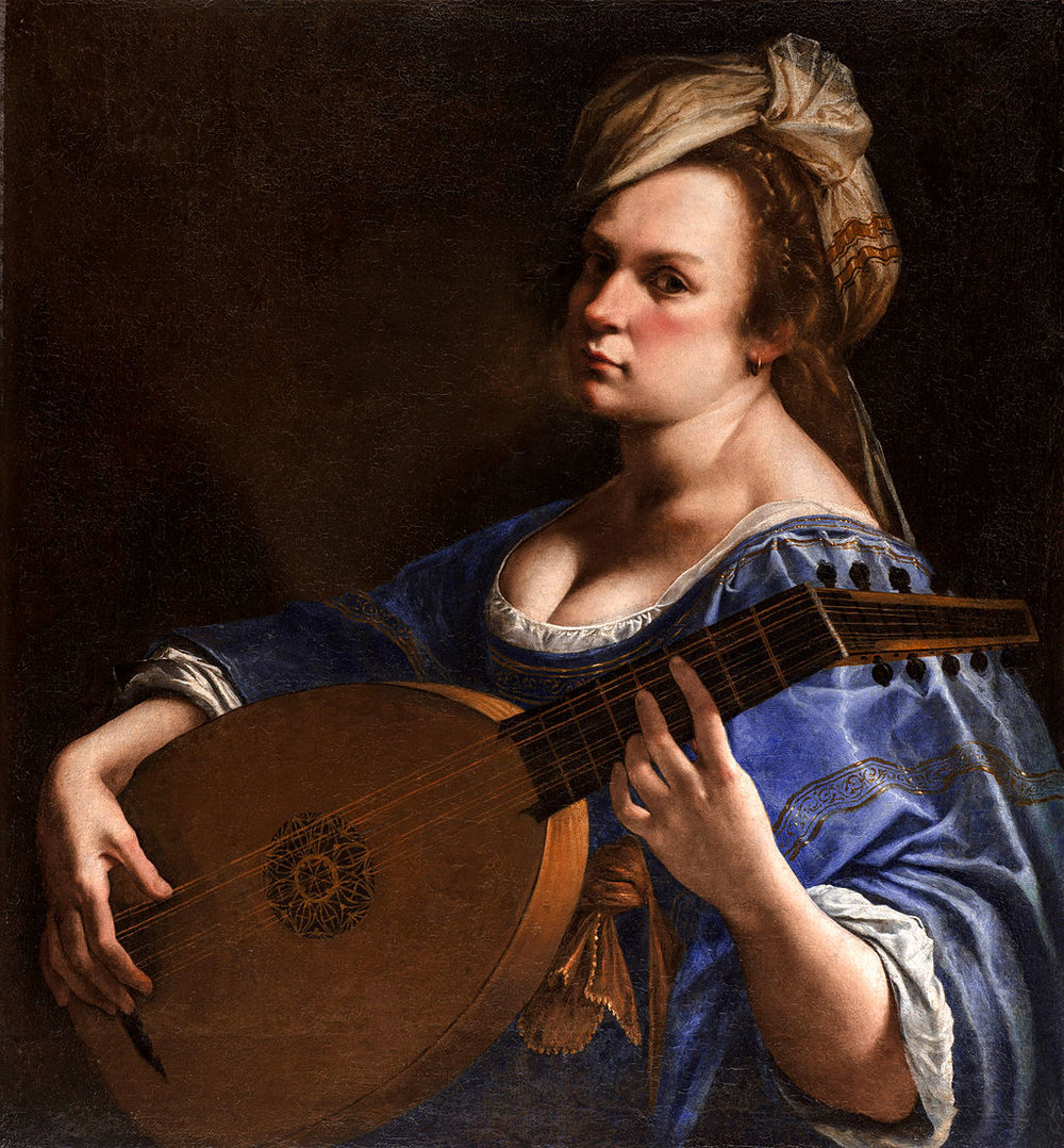 Artemisia Gentileschi's Self Portrait as a Lute Player