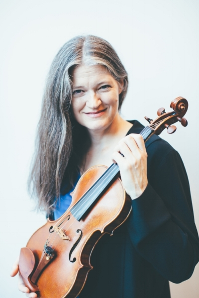 Violinist and Artistic Director Anna Presler  Photo: Vivian Sachs