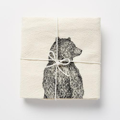 standing bear flour sack towel skt ceramics