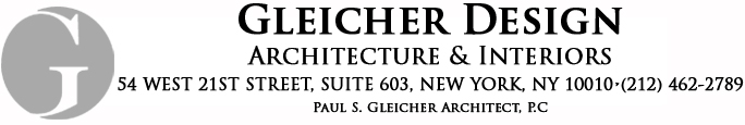 GLEICHER DESIGN • ARCHITECTURE & INTERIORS