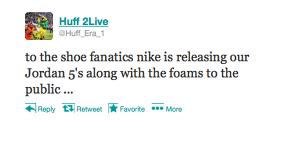 This is the confirmation of the release of the Jordans and Foams to the public.