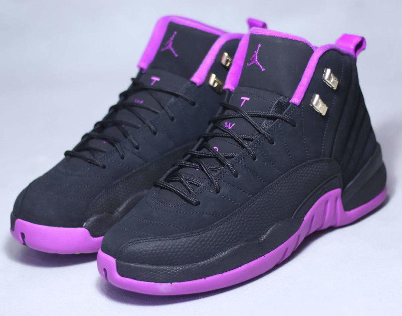 sports shoes c95bd e22cd ... pink purple  womens air jordan retro 12 all blue ...