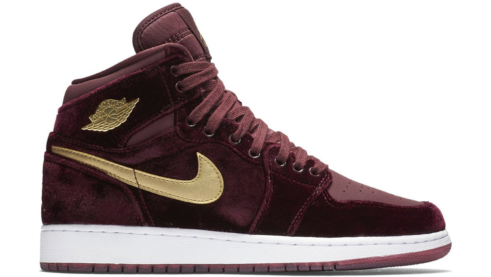 "Air Jordan 1 Retro High Premium Heiress ""Night Maroon"""