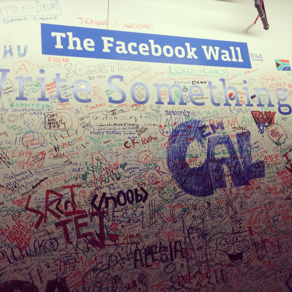 The actual Facebook Wall