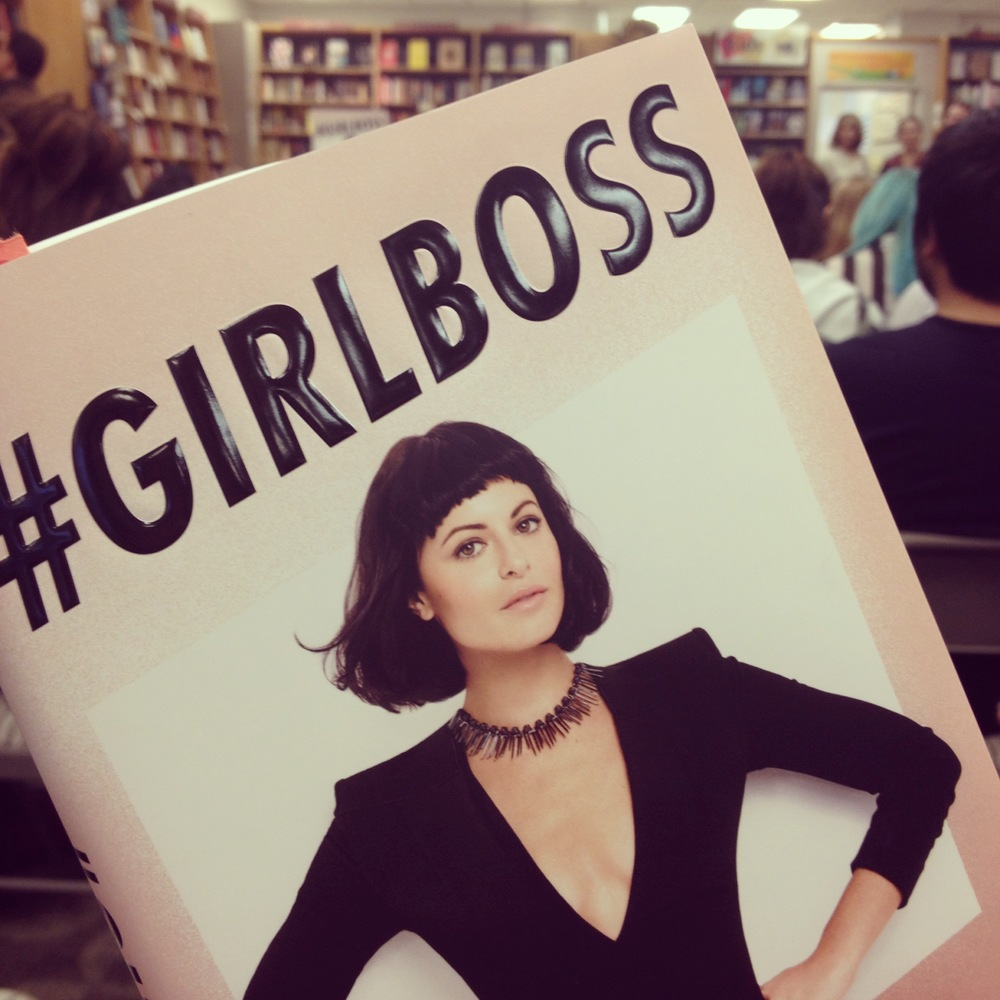 My signed copy of #GIRLBOSS