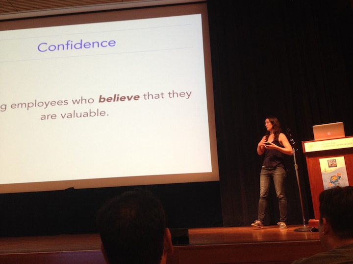 Kate presenting at GoGaRuCo 2014