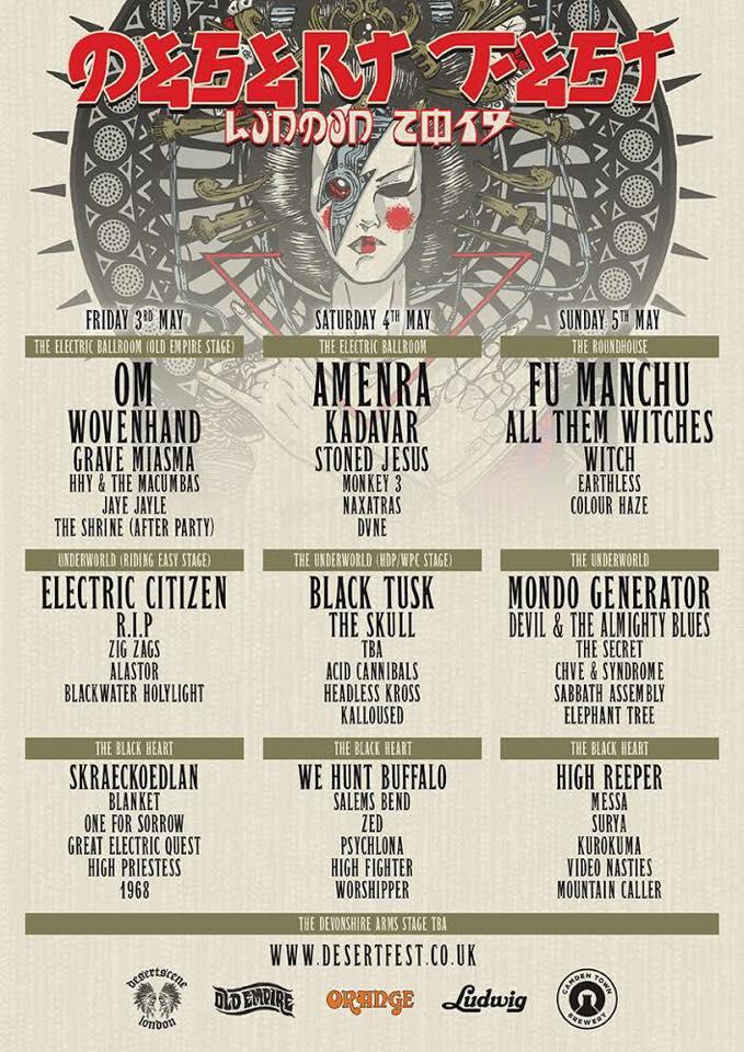 Electric Citizen Band Desertfest London 2019