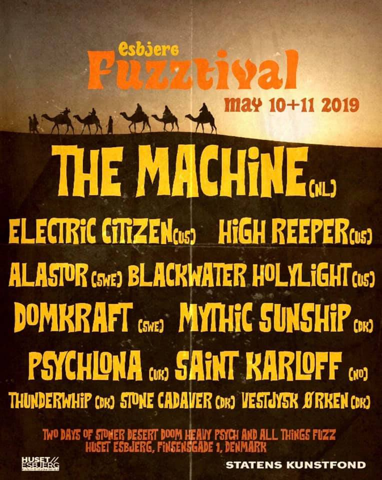 Electric Citizen Band Esbjerg Fuzztival 2019