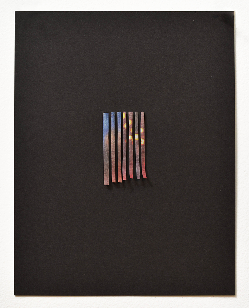 American Flag , 2015   Newspaper and charcoal on paper    11 x 8.5 inches