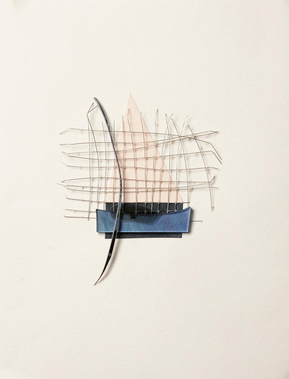 Quiet Dreams , 2018 Mixed media on paper 11 x 8.5 inches