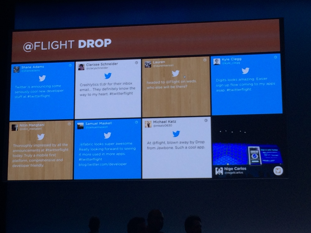 At the end of the keynote and Digits demo I got pretty excited about things. Even made it up onto the big screen (top right).